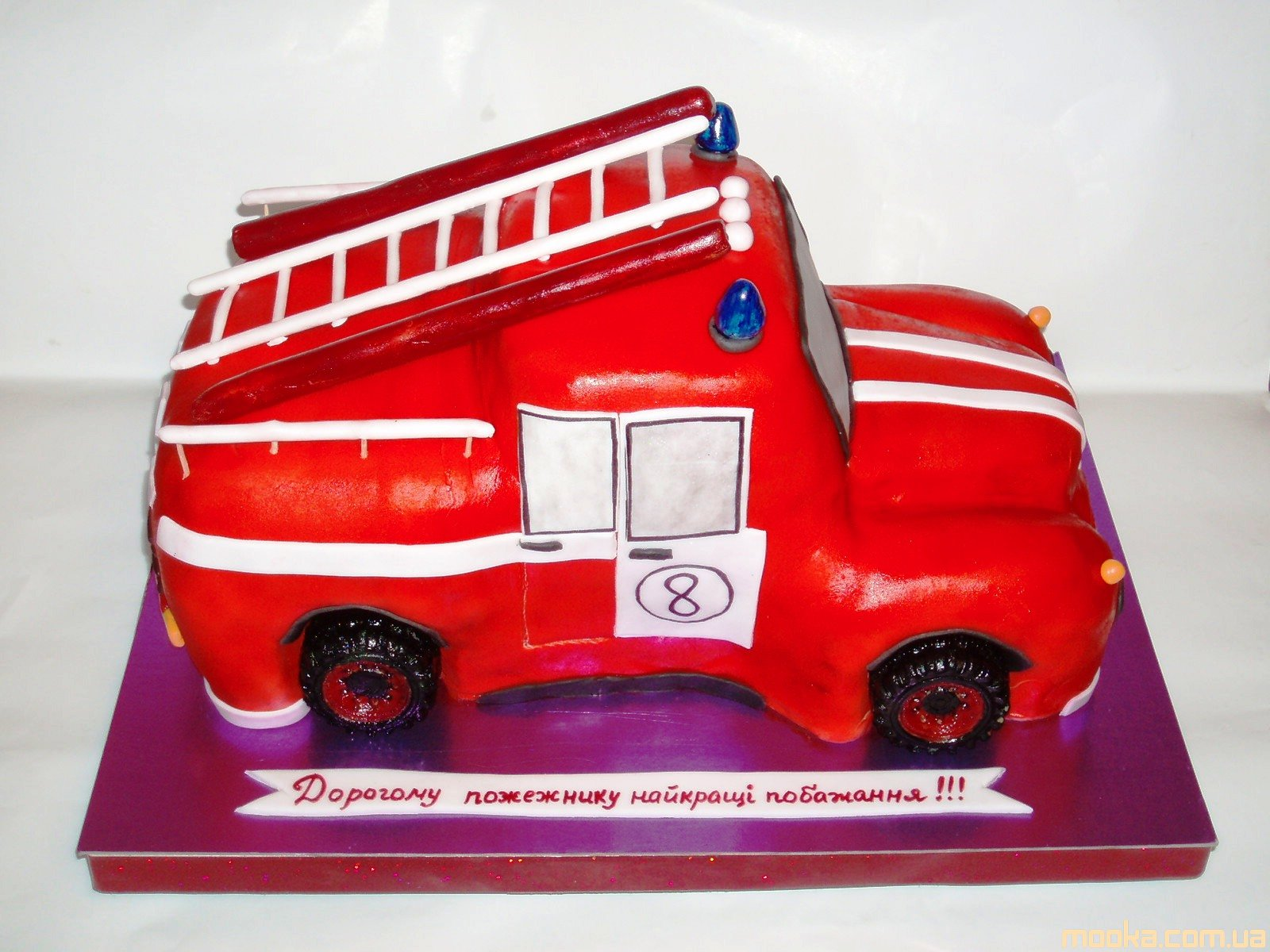 картинки торт пожарная машина кремом всех ответственных