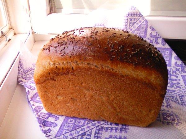 пшенично ржаной хлеб на жидких дрожжах