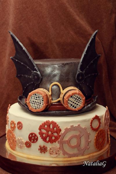 Торт в стиле стимпанк