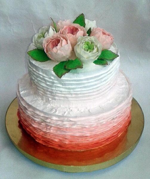 торт с английскими розами