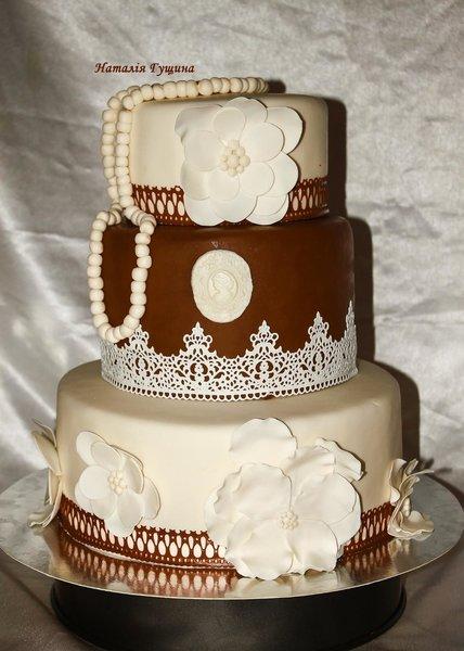Свадебный с камеей