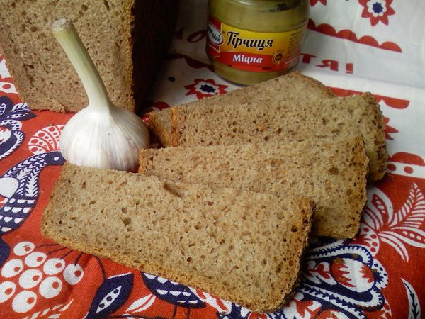 Пшенично -ржаной 50*50 на жидких дрожжах - разрез